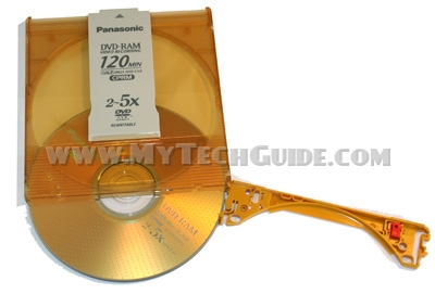 Remove DVD-RAM disc from cartridge