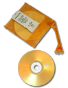 Removing DVD-RAM disc from cartridge